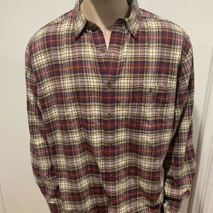 Woolrich outdoor clothing company deep ruby check